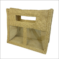 Hessian candle gift bag