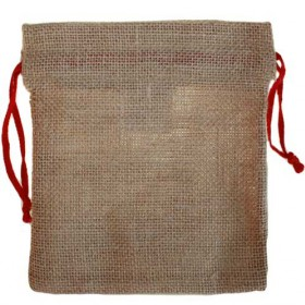 Hessian drawstring pouch