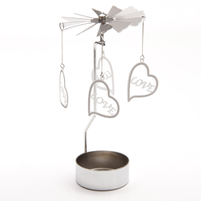 Love Heart tealight spinner