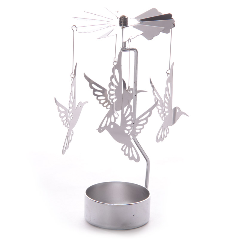 Hummingbird tealight spinner