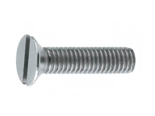 St.St. M/C Screws, M10X60  CSK SLOT M/C SCREWS A2 ST.ST., Batch Quantity= 168