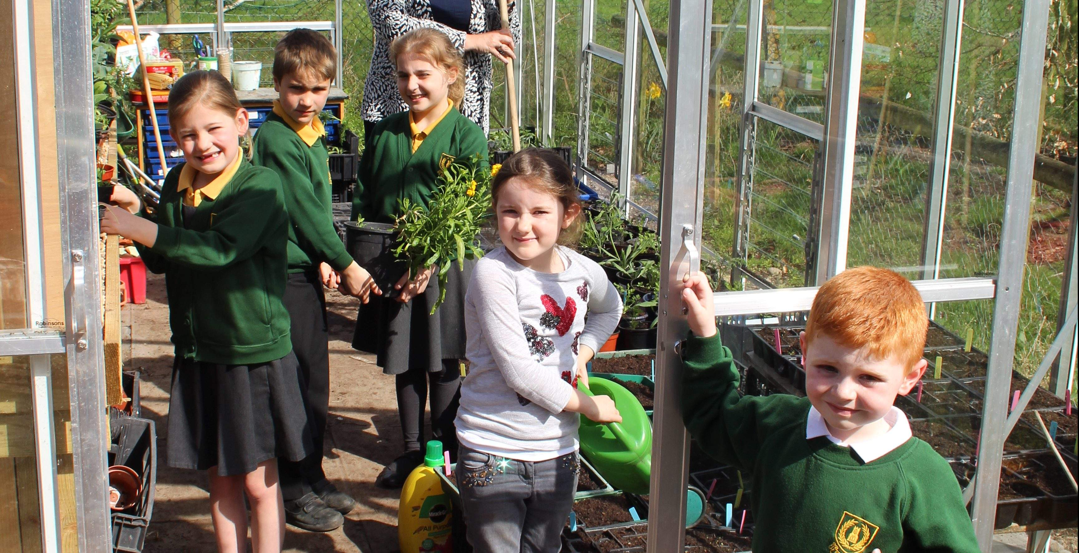 Greenhouse Delight for Green Fingered Pupils