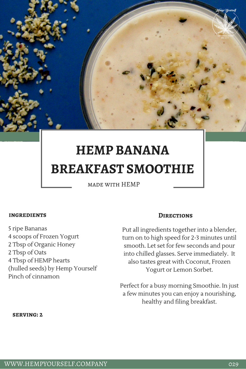 Hemp Banana Breakfast Smoothie