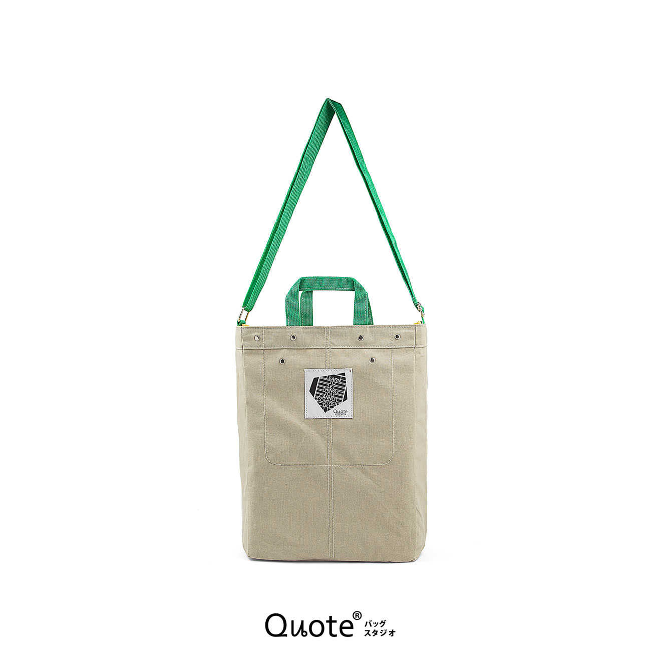 Coss-over bag # M Grey/Green  || クロスボディバッグ