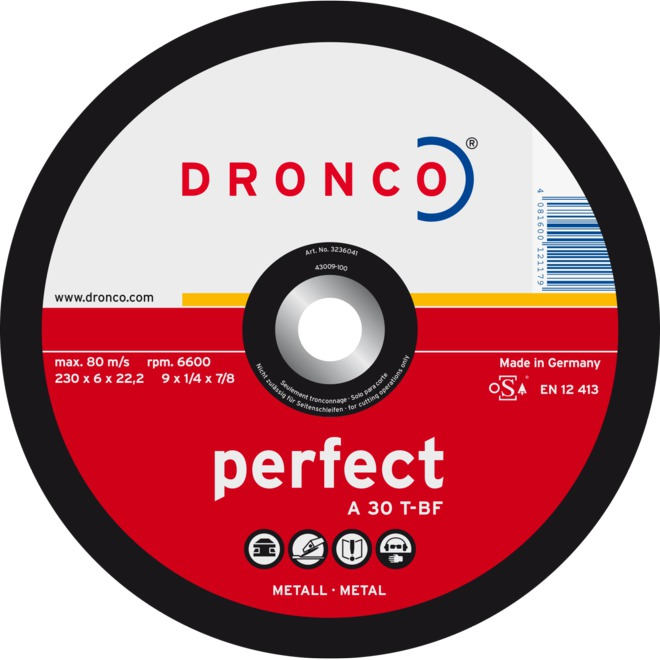 "GRINDING DISC, 9"" DEP CTR GRINDING DISC PERFECT, 10 PACK"