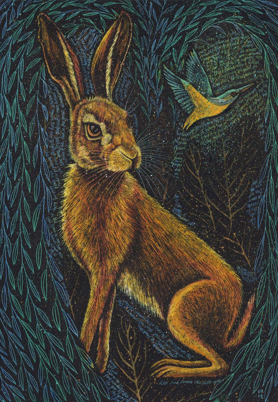 'The Hare at Dark Hollow' A4 print