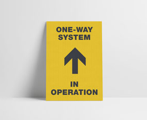 A3 one way posters