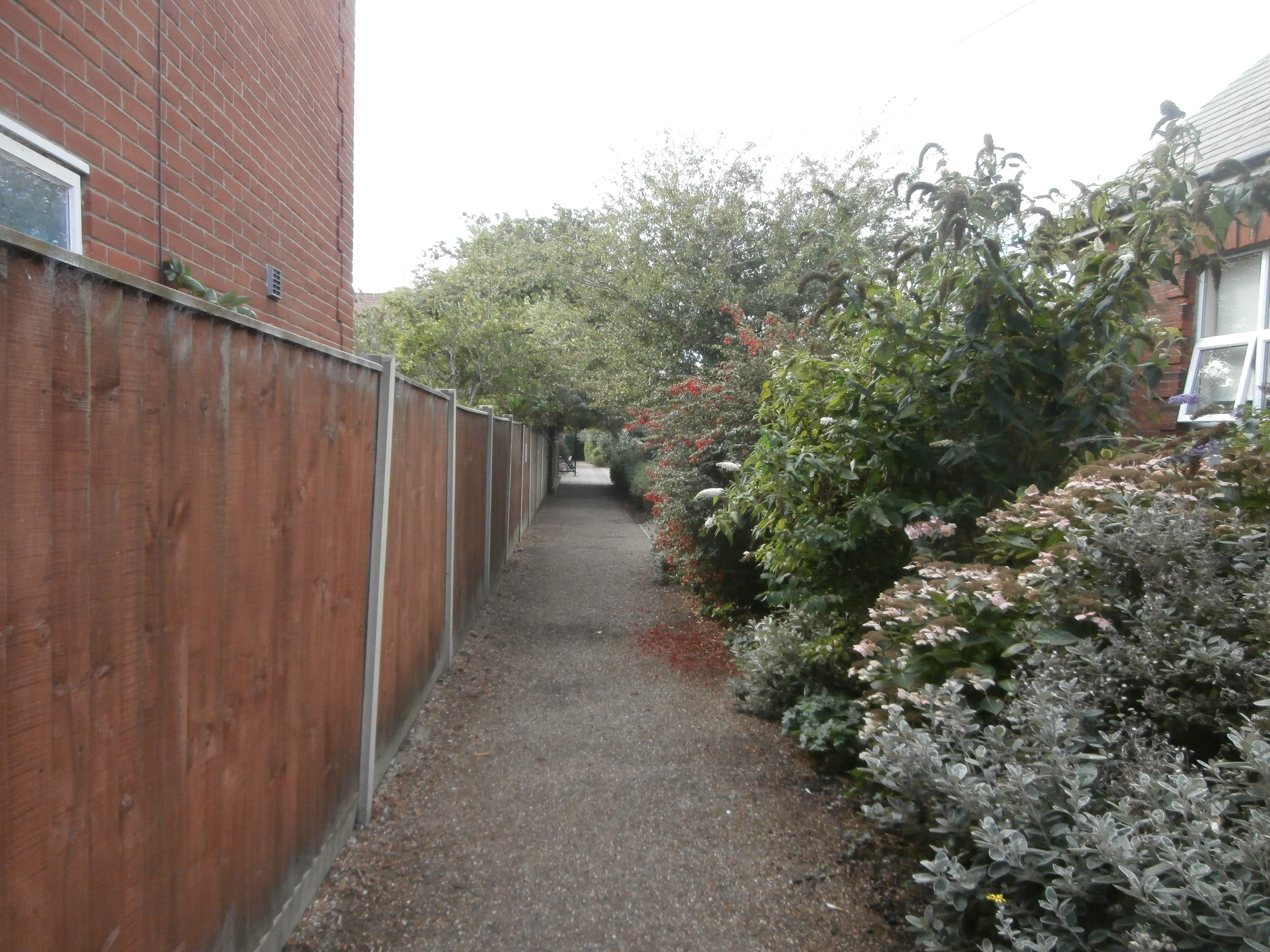Footpath to Corton Primary School
