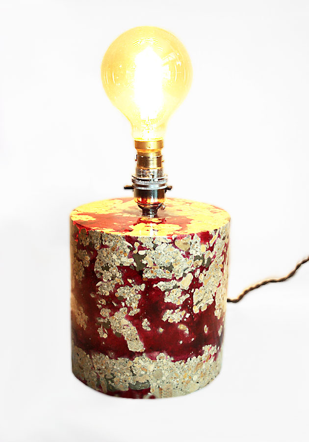 Polished Concrete & Resin Lamp