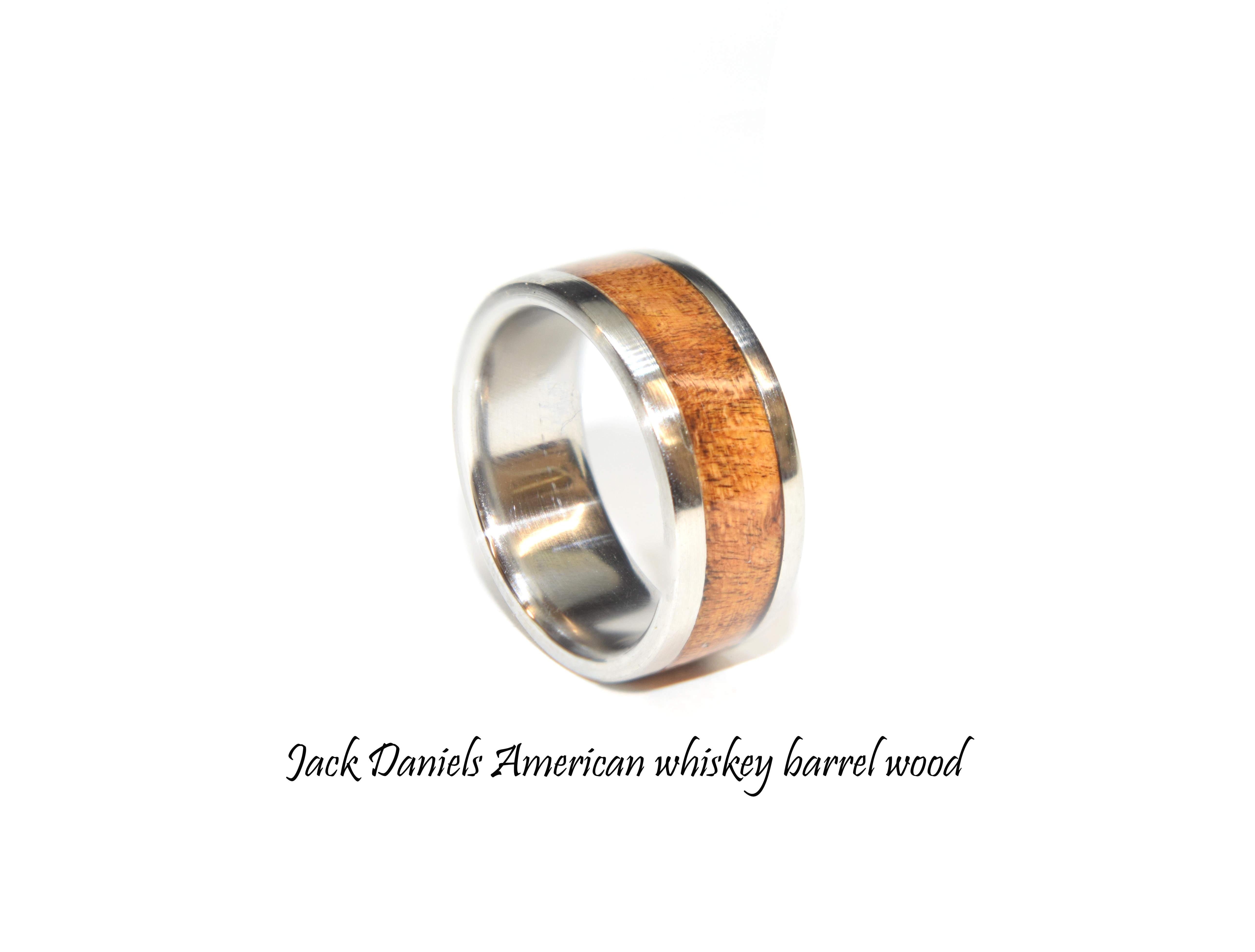 Jack Daniels ring whiskey barrel wood rings for men and women