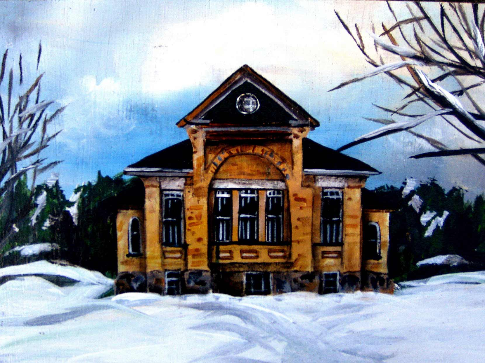 """The Old School House"", Ontario, 10x8"
