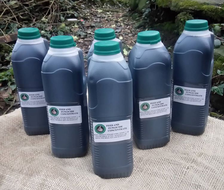 1 ltr of organic fertilizer and fungicide using re-cycled bottles !