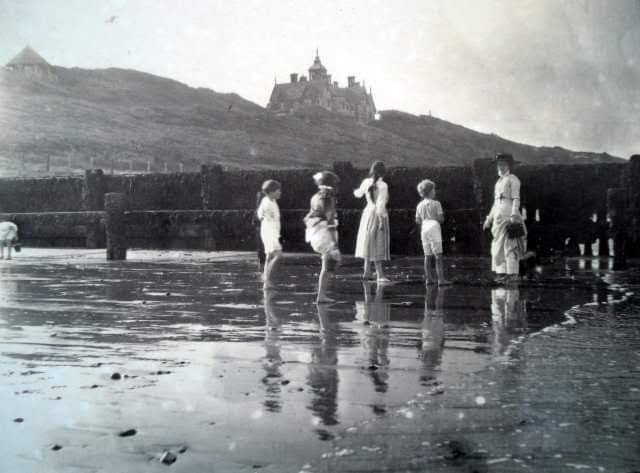 Children on Beach & Clyffe House