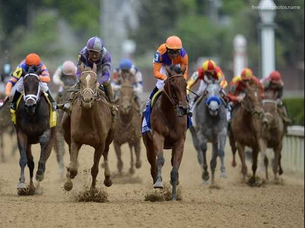 horse-race-on-dirt-track-USA
