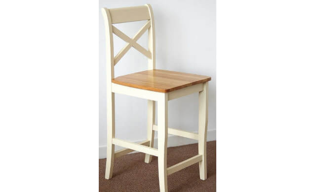 CLermont Oak & Cream Stool