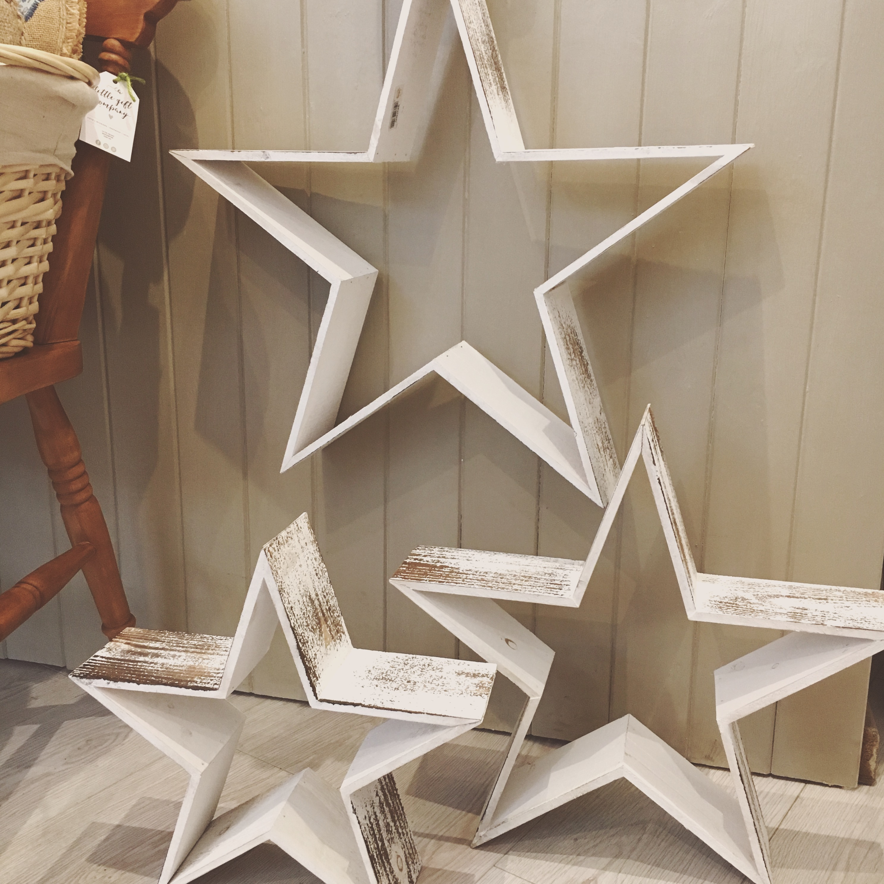 Distressed Wooden stars