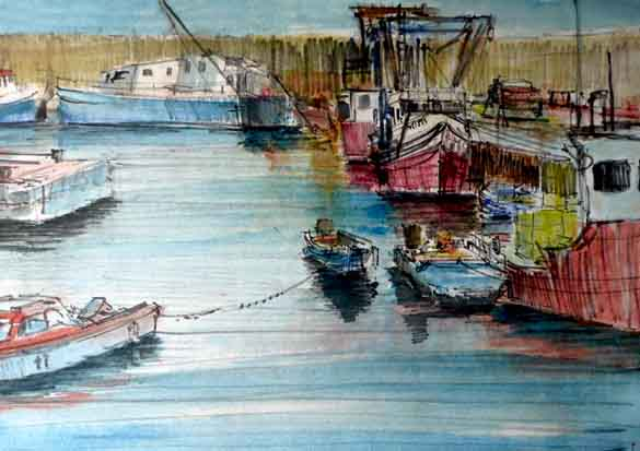 Plein Air Harbour Sketch II