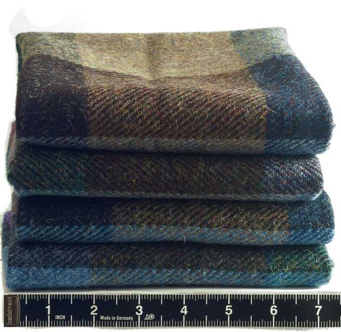 Donegal Tweed by Fabric Affair:Tory Island Collection:Large Multi Check Tweed