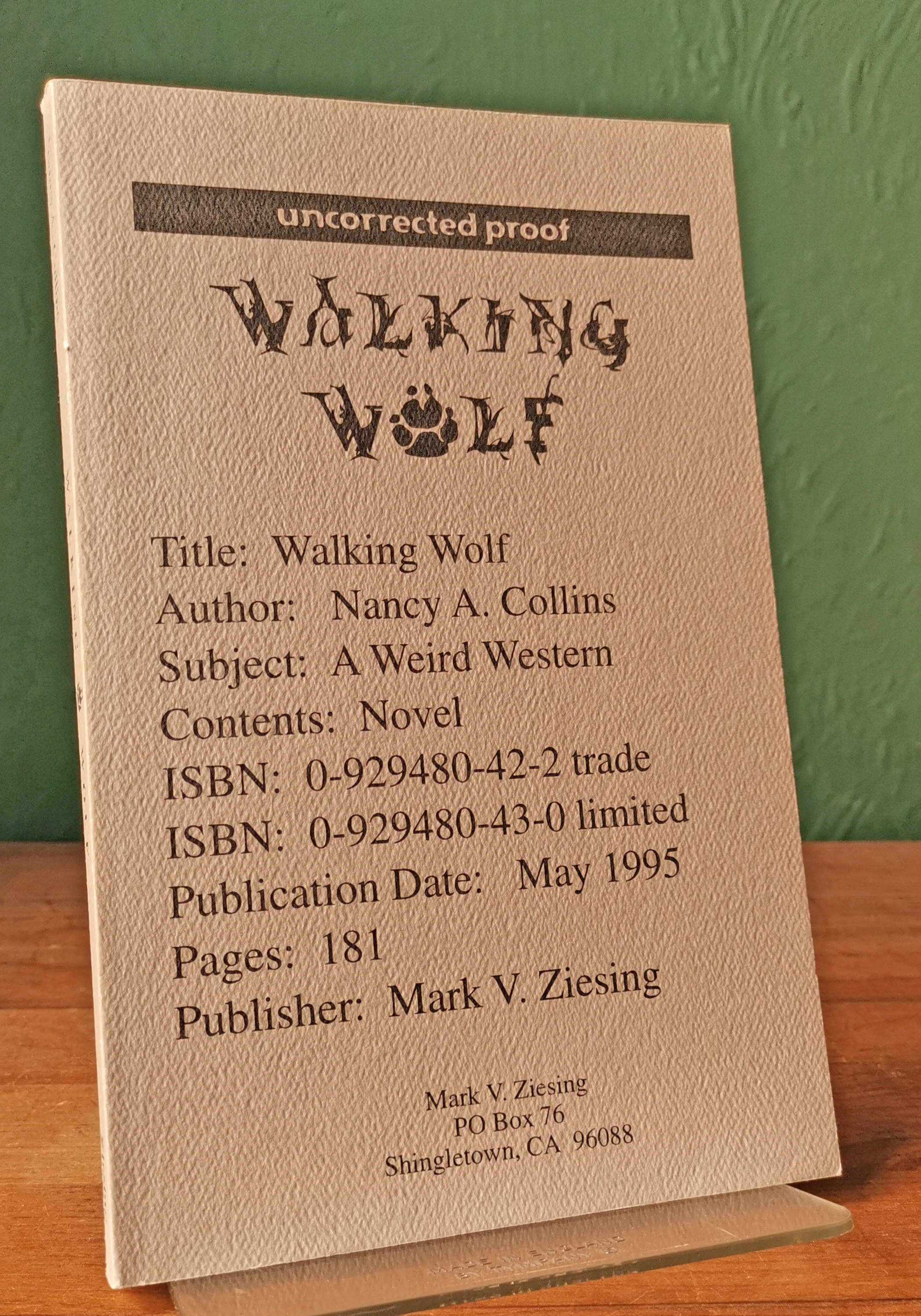 Walking Wolf US Proof