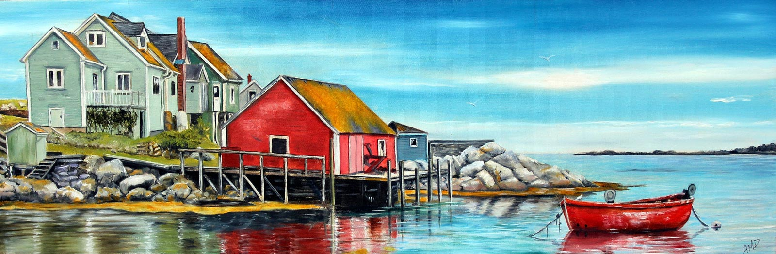 """Peggy's Cove"", Nova Scotia, 20x8"