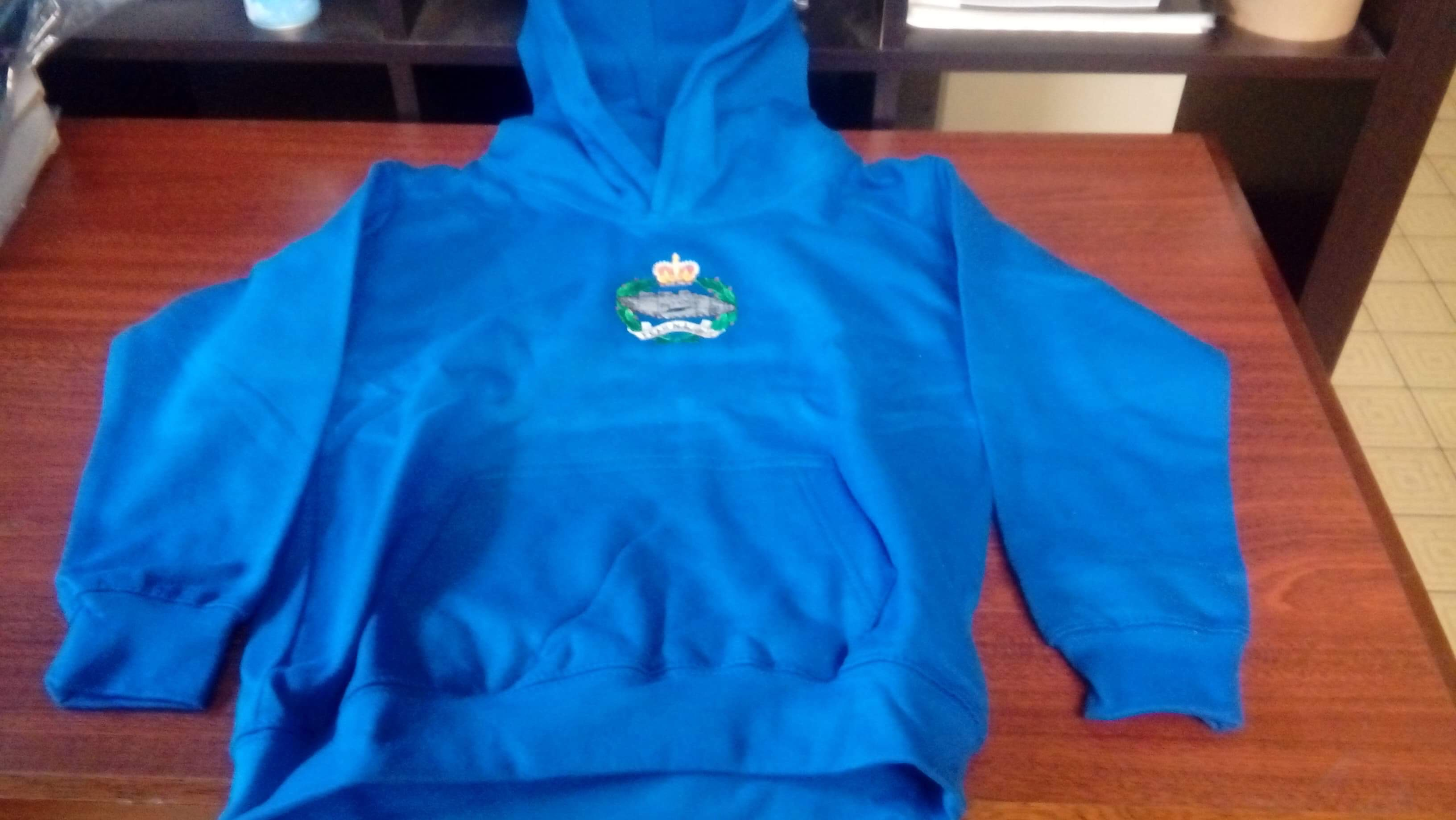 Child's DARK BLUE Hoodie 7-8yrs