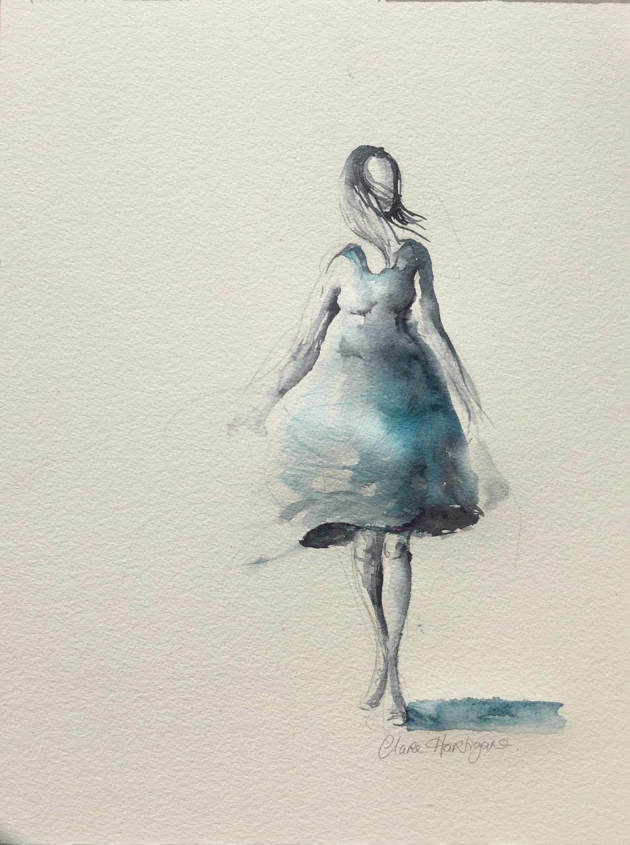Girl in a Blue Dress (sold)