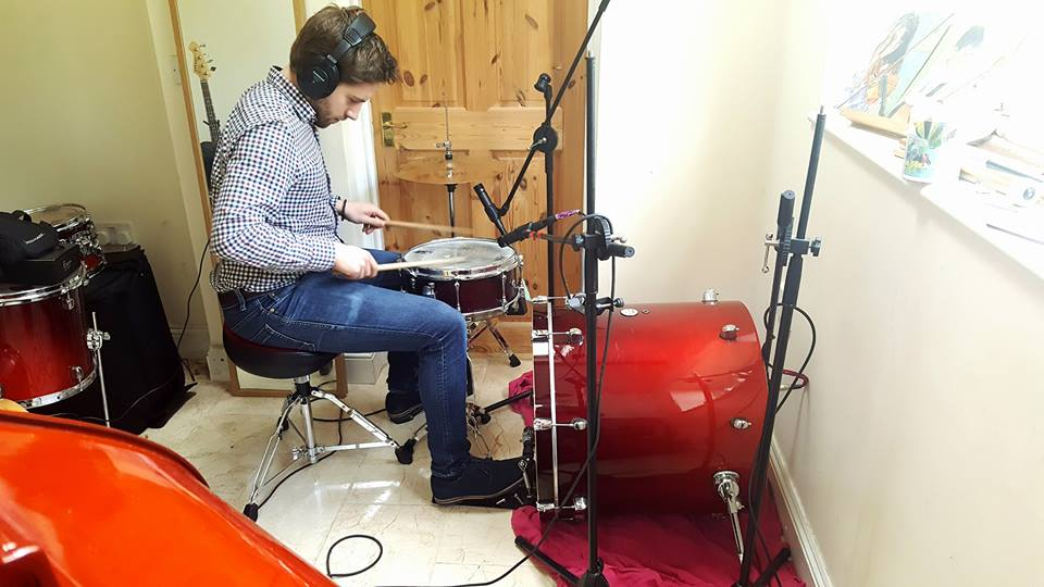 Jamie Langford Recording Drums