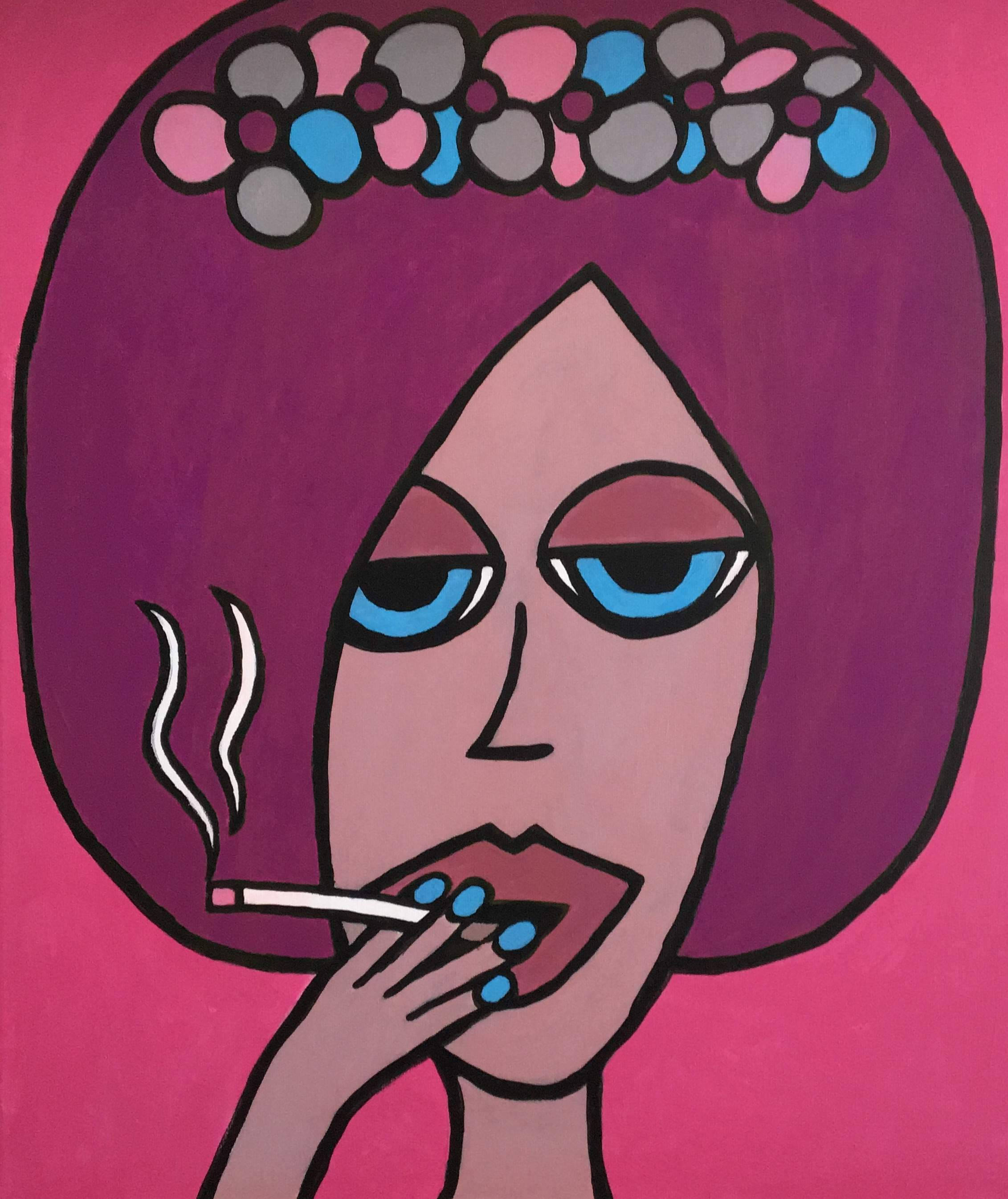 Painting 'Smoking My Way Out'