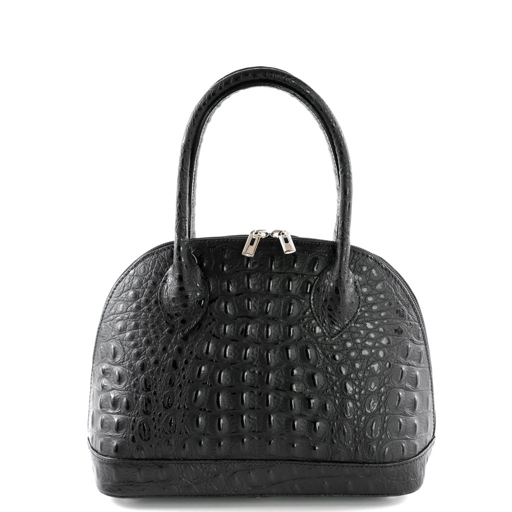Burford Black Croc Real Leather Grab Bag