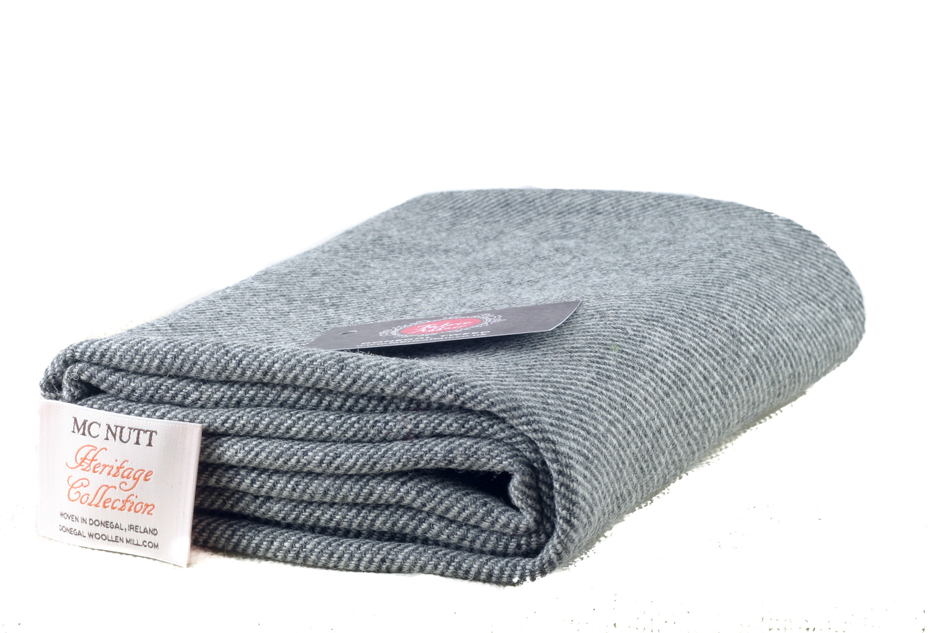 Donegal Tweed by Fabric Affair: Heritage Collection, Grey Twill.