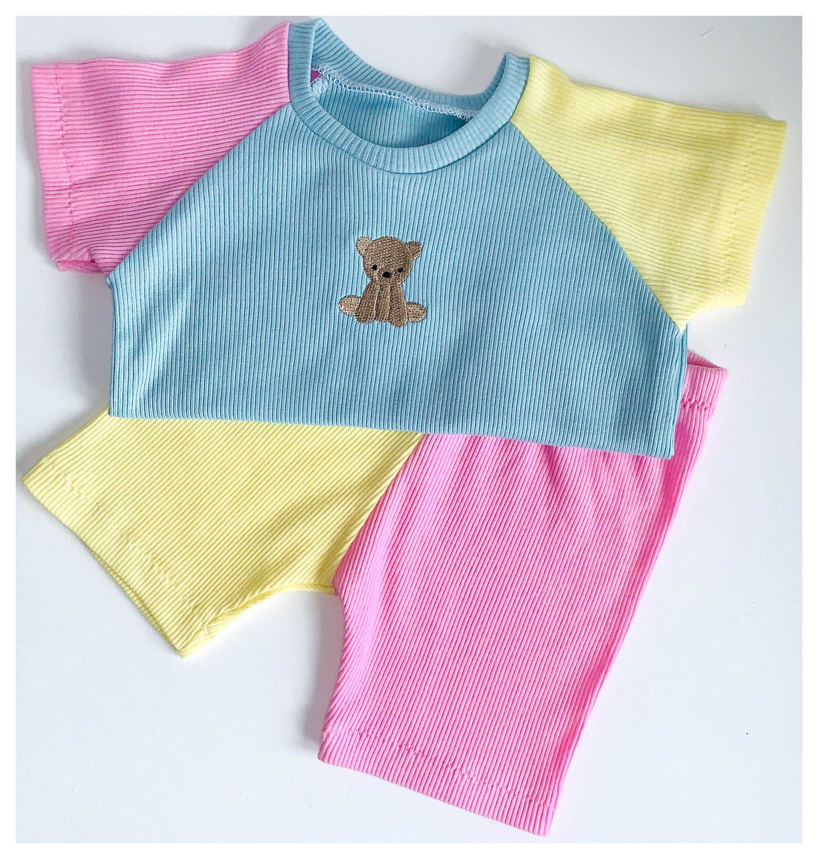 Candy Mix Bear Shorts Set