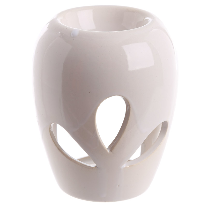 Small white oil burner