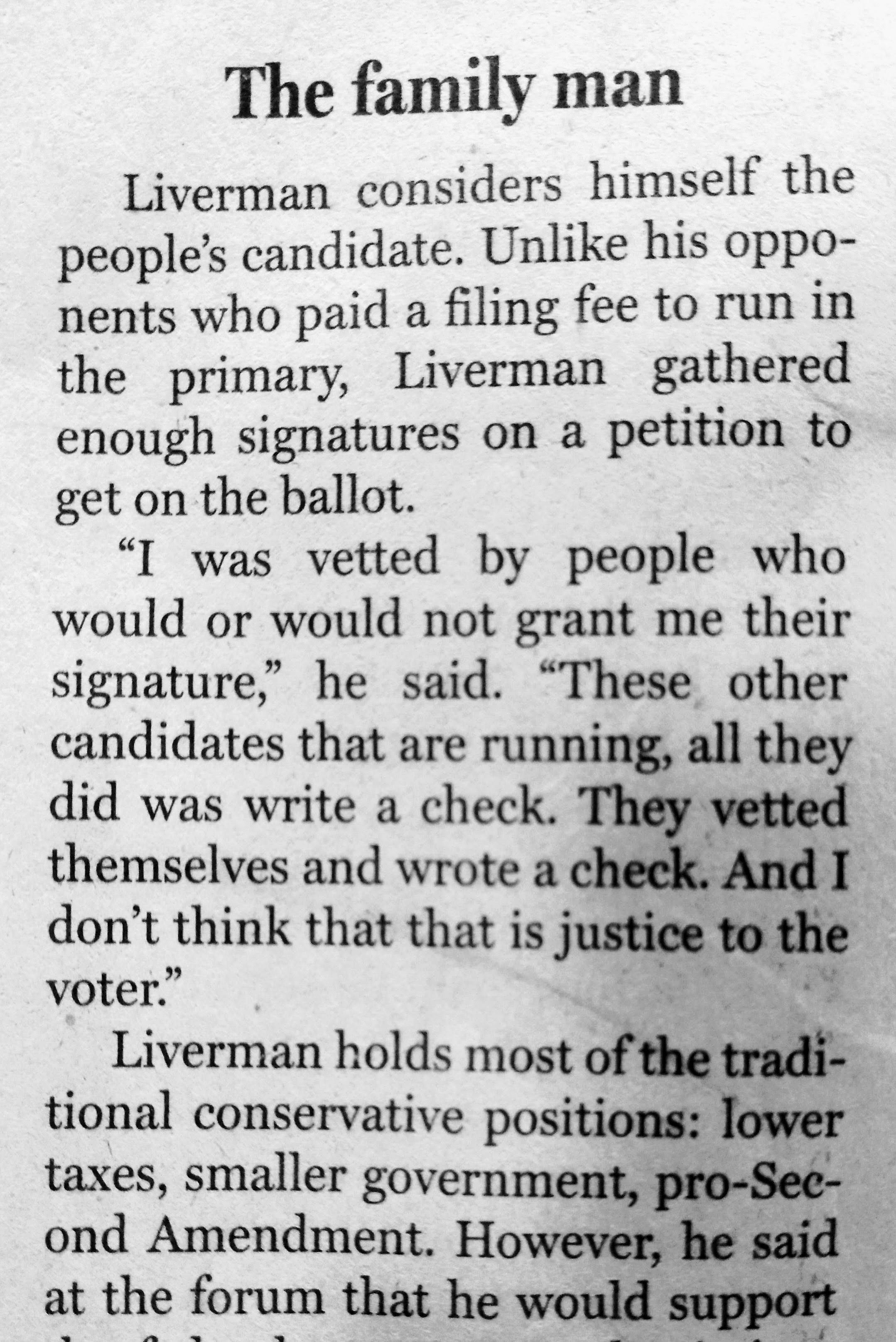 ... Dallas Morning News ... Jeron Liverman For Congress