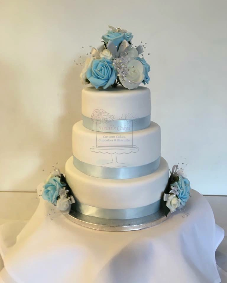 Baby Blue/White 3 Tier