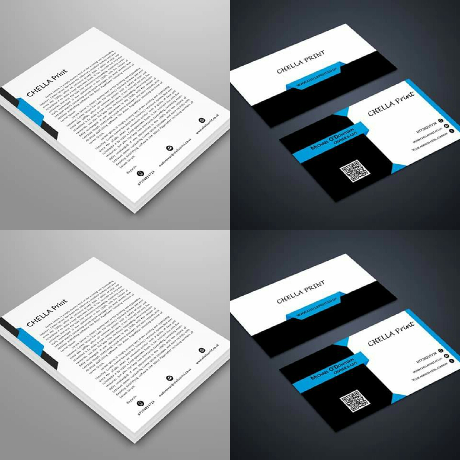 250 business card and 250 headed paper designed to your spec colourmoves