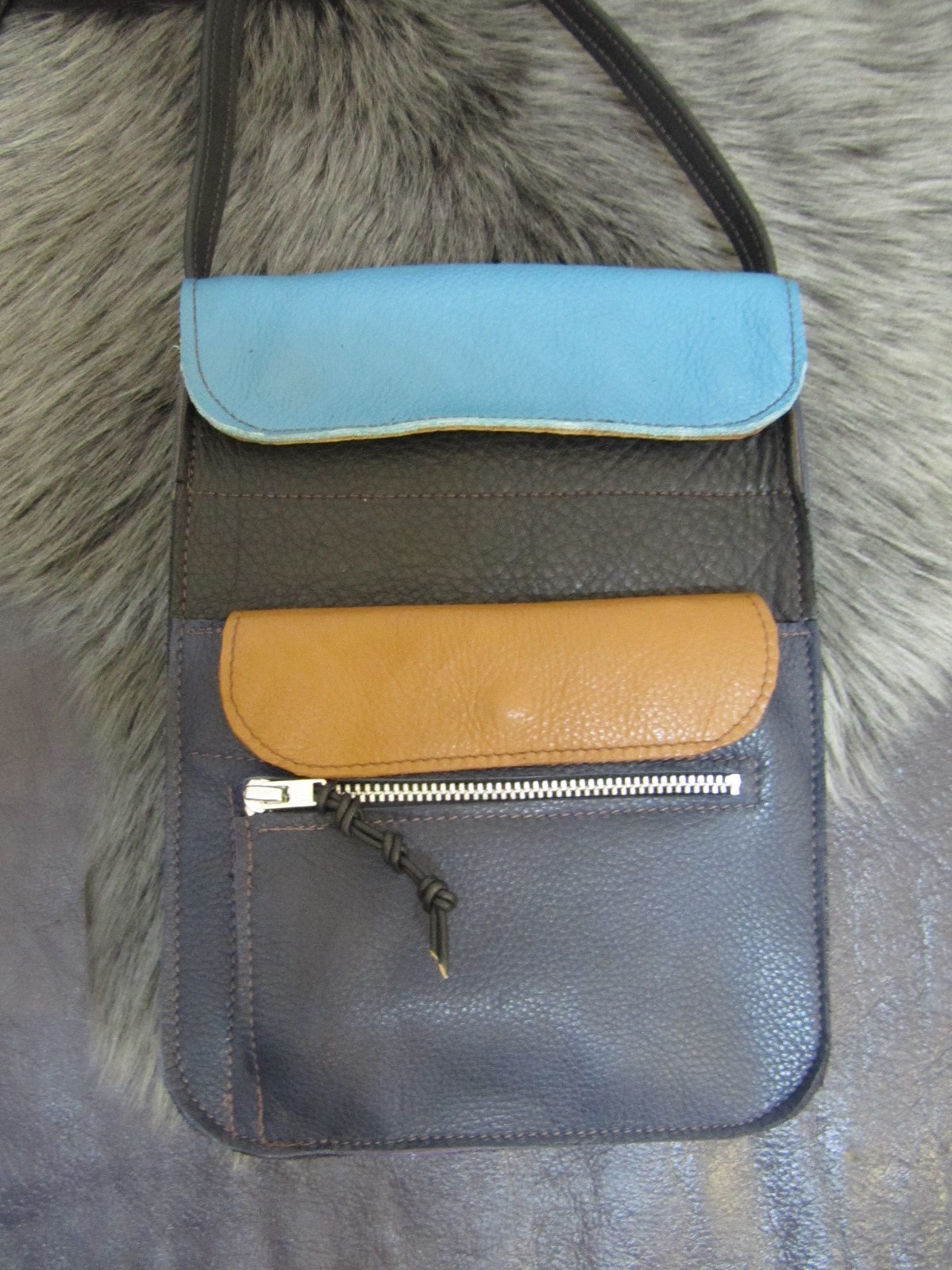A multicolour bag made at a workshop