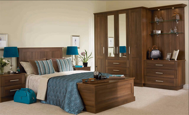 Tuscany Dark Walnut Fitted Bedroom