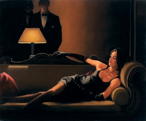Jack Vettriano - Along Came A Spider