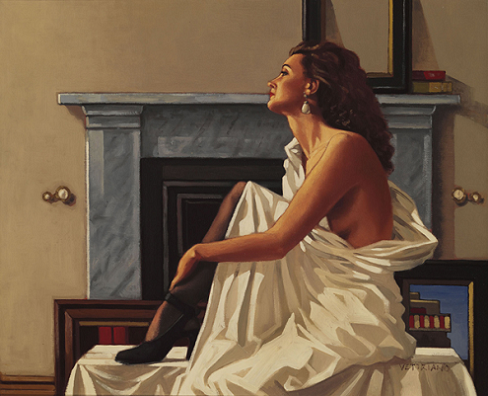 Model In White Jack Vettriano Artists Proof