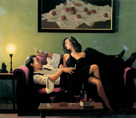 Jack Vettriano - After Midnight (Study)