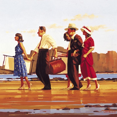 Oh Happy Days Jack Vettriano Signed Poster Print