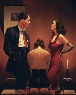 Scarlet Ribbons Jack Vettriano Artists Proof