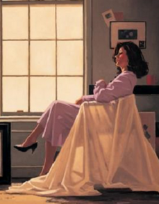 Winter Light & Lavender Limited Edition Print Jack vettriano