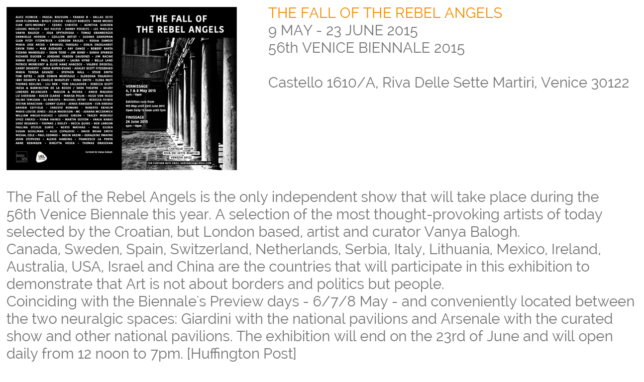 The Fall of the Rebel Angels Group Show Venice 56th Venice Biennale 2015