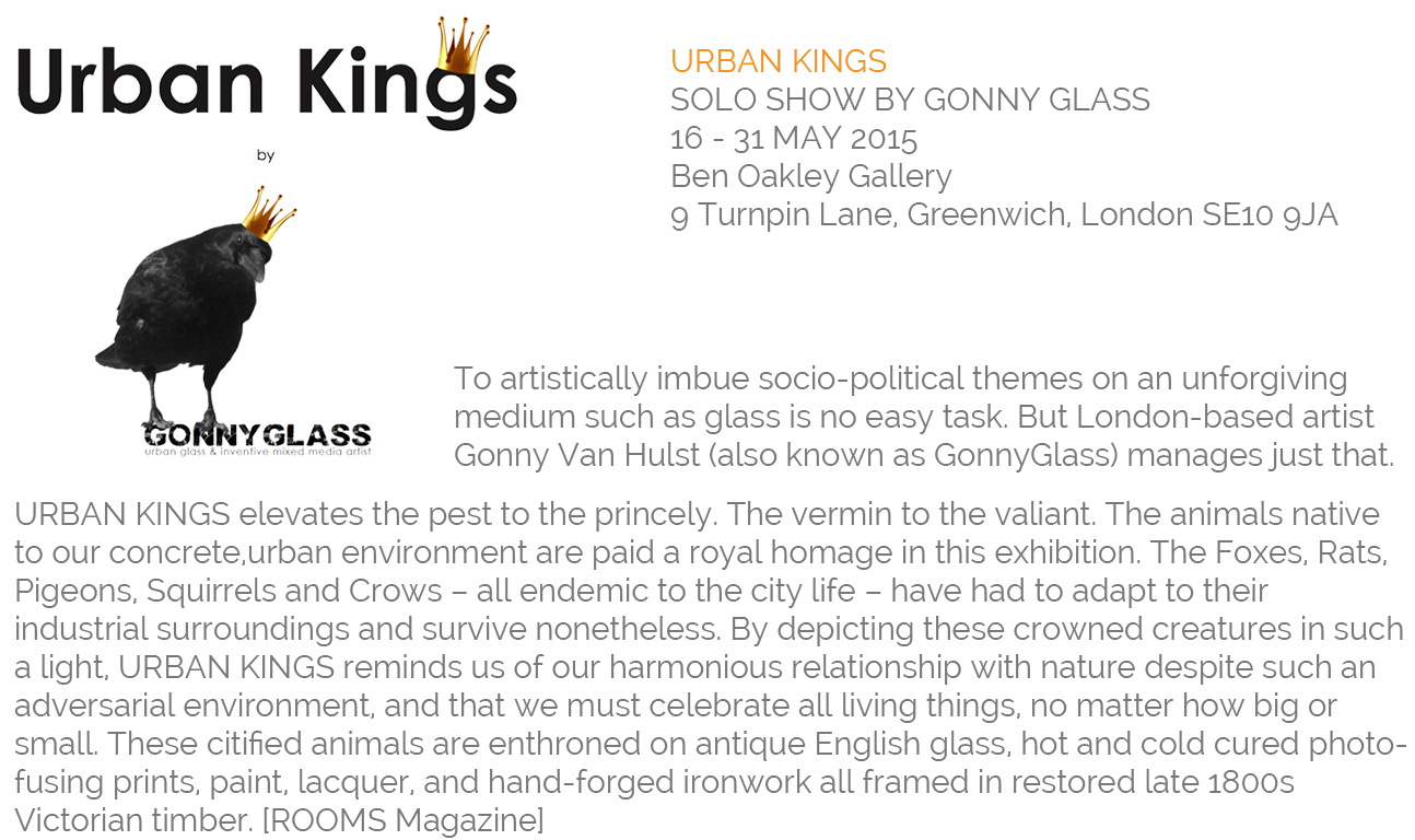Urban Kings GonnyGlass Solo Show at the Ben Oakley Gallery