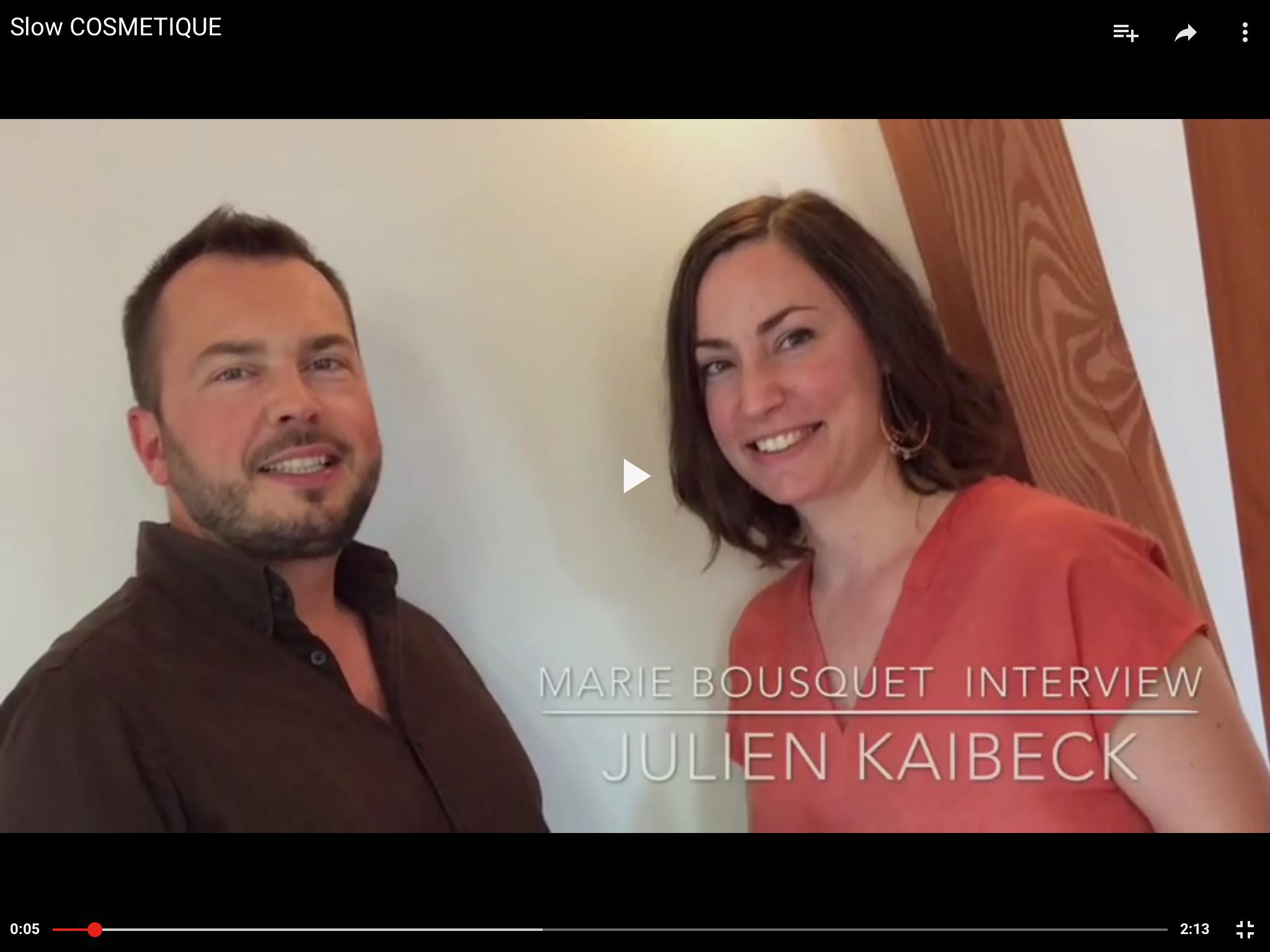 DeSlow Cosmetique Julien Kaibeck Ateliers de la Souris Verte PARIS STAGE FORMATIONscription de l'image