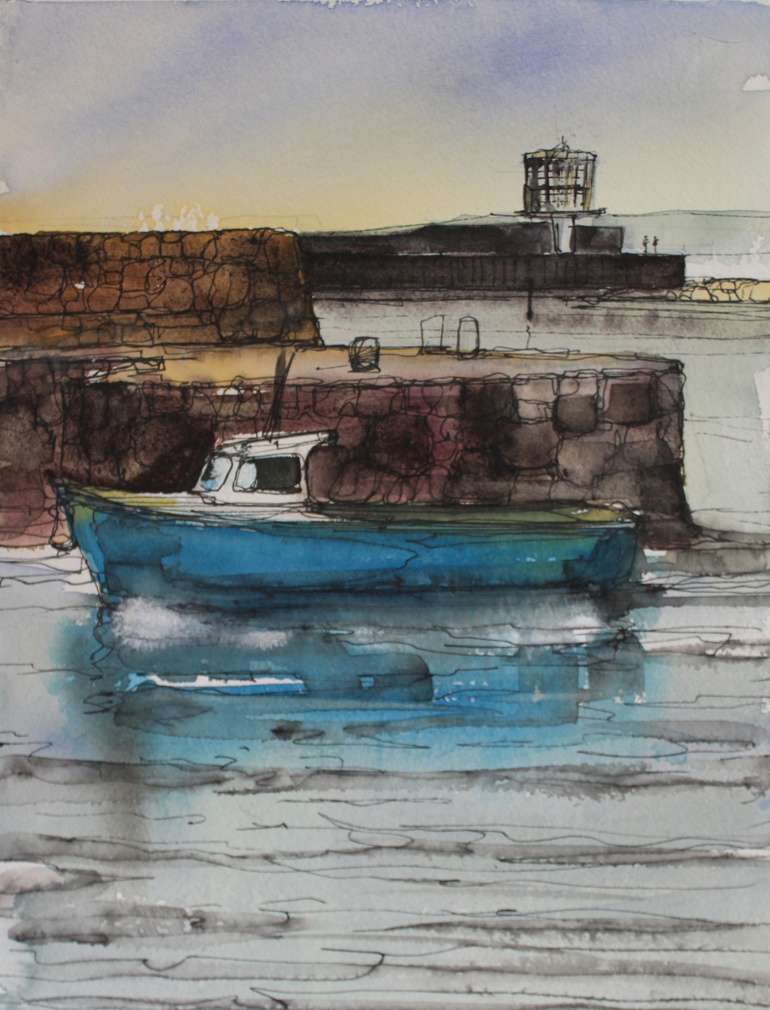 Carrickfergus, County Antrim - watercolour