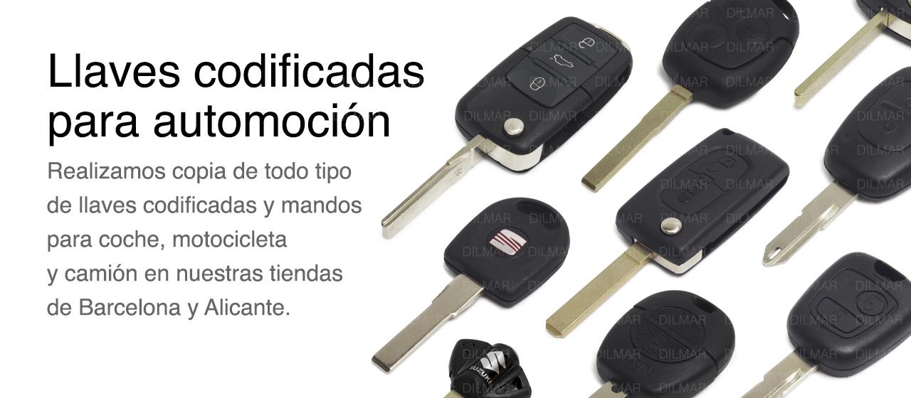 Llaves de coche codificadas en barcelona y alicante dilmar for Hacer copia de llave de coche
