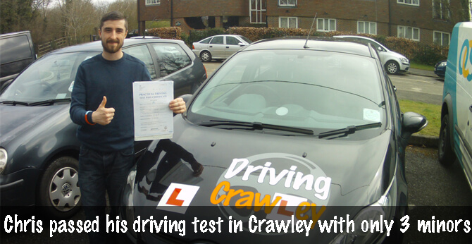 Chris passed first time