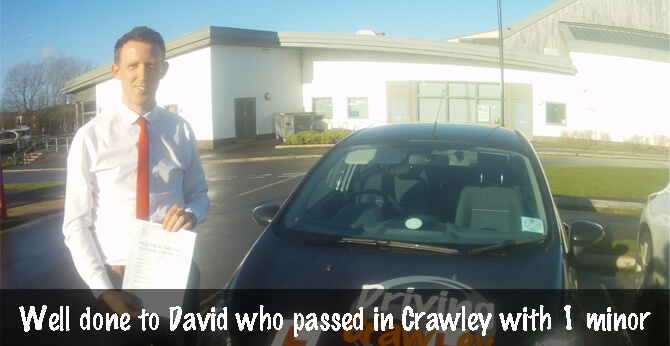David passed with 1 minor!